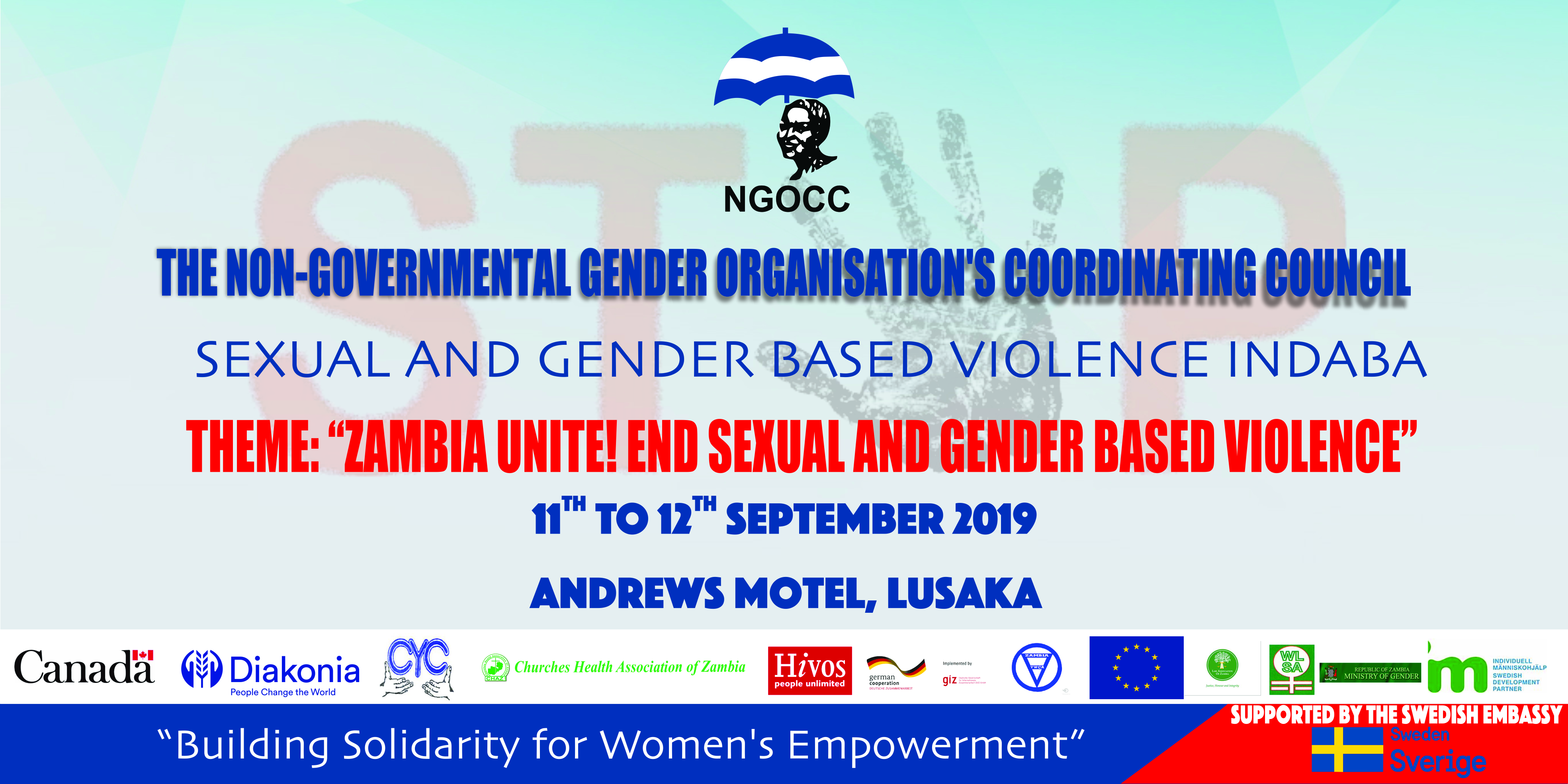 Zambia Unite! End Sexual & Gender Based Violence