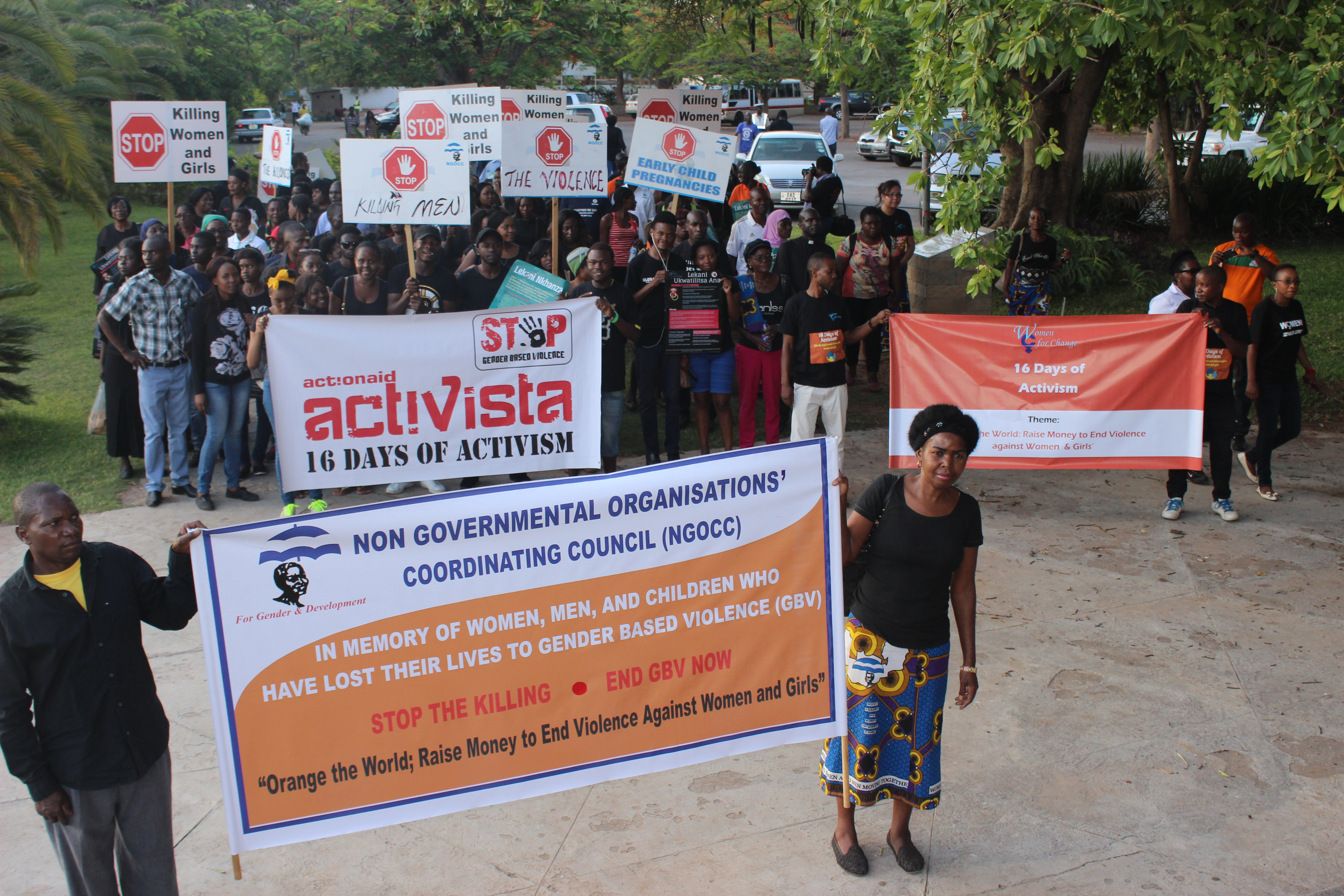 NGOCC HOLDS CANDLELIGHT SERVICE & MARCH PAST ON 16 DAYS AGAINST GBV.