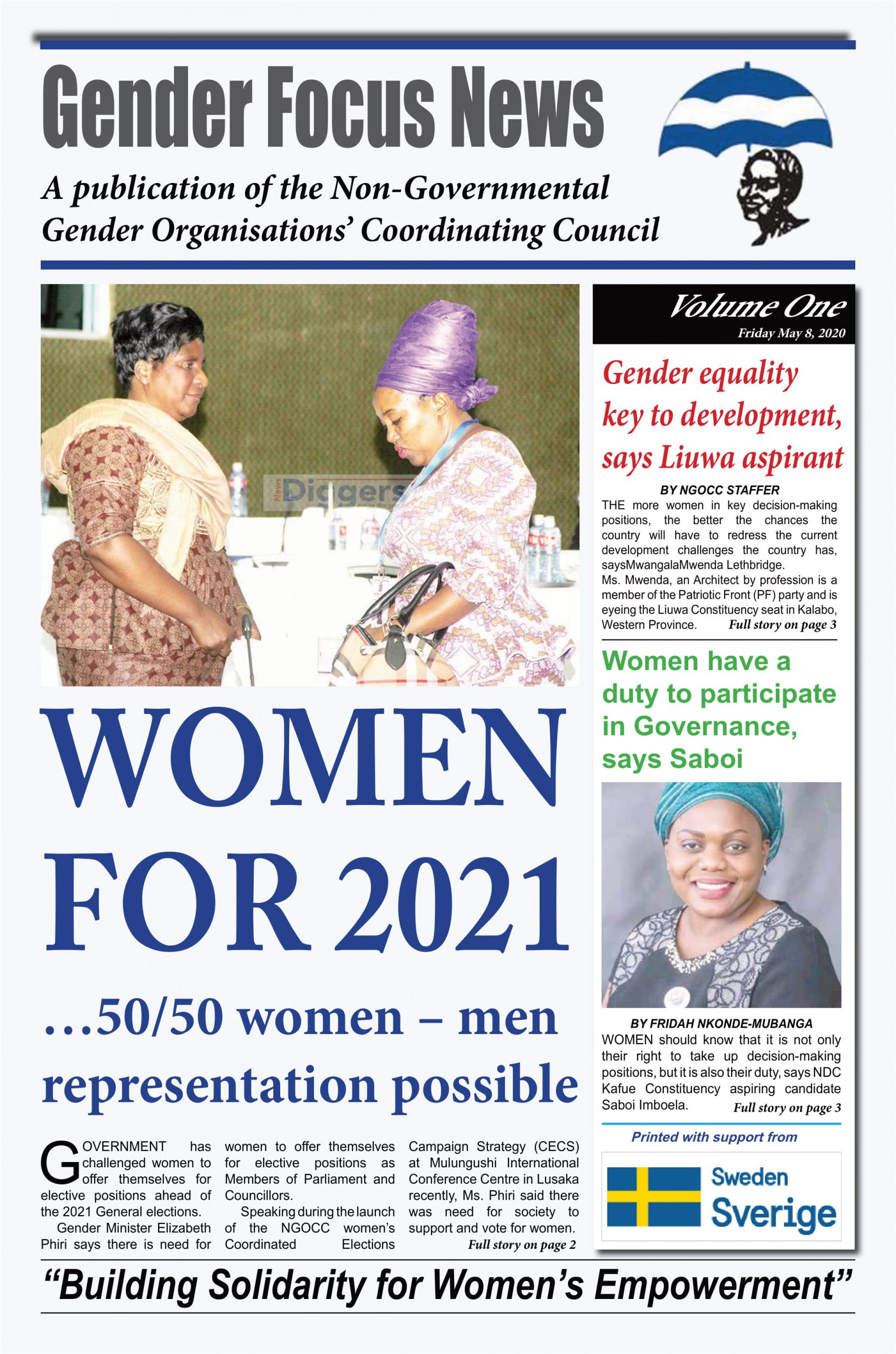 Gender Focus News- May 2020 Edition