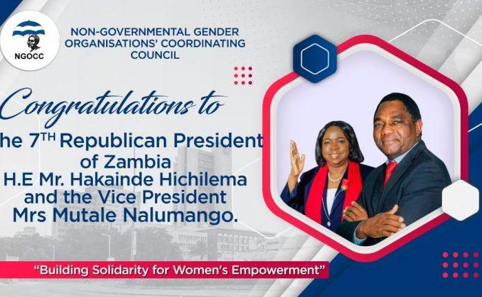 NGOCC Statement on President Hichilema's Inauguration Speech